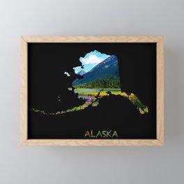 Alaska Outline - God's Country Framed Mini Art Print