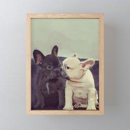 Frenchie kiss Framed Mini Art Print