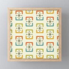Mid Century Modern Starburst Shells Chartreuse Framed Mini Art Print
