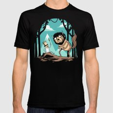 Where the Wild Adventures Are Mens Fitted Tee MEDIUM Black