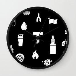 Pattern Yoga Mat Reverse Wall Clock
