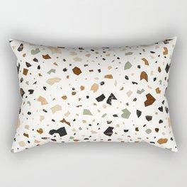 Gold Terrazzo Pattern Fragments Rectangular Pillow