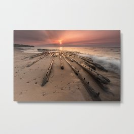 Shipwreck on Lake Superiors Graveyard Coast Metal Print