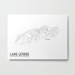 Lake Louise, Canada - Back - Minimalist Winter Trail Art Metal Print