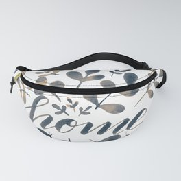 Watercolor home foliage – neutral Fanny Pack