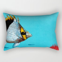 Butterfly & Bigeye fishes Rectangular Pillow