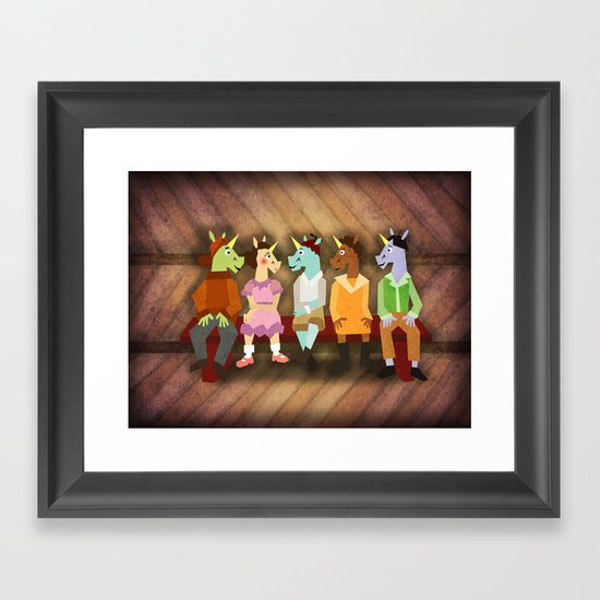 The Little Rascal Unicorns Framed Art Print