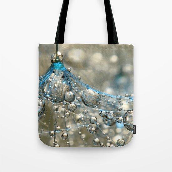 Cyan & Gold Tote Bag