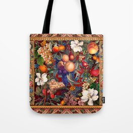 Vintage Fruit Pattern VII Tote Bag