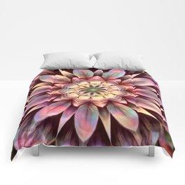 Pastel Dimensional Flower Mandala Comforters