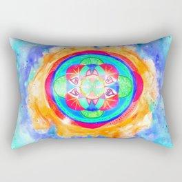 The seed of life - Inflammation Rectangular Pillow