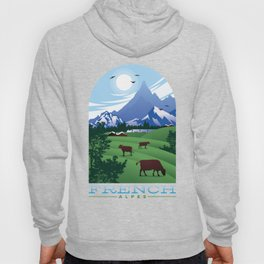 French Alps French Countryside Vacation design Hoody