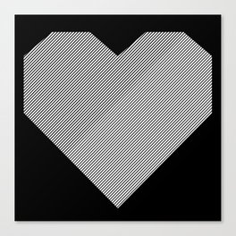 heart / black & white / Canvas Print
