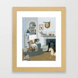 Baby Animal Nursery Framed Art Print