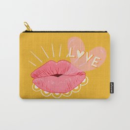 Kissing Lips & Love Bubbles Carry-All Pouch