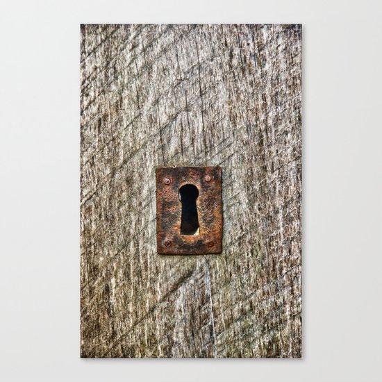 The Old Door Lock Canvas Print