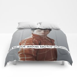 lol ur not aaron taylor-johnson Comforters