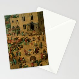 "Pieter Bruegel (also Brueghel or Breughel) the Elder ""Children's Games"" Stationery Cards"