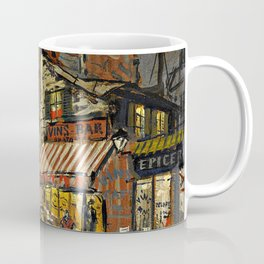 Lonely Paris, Midnight, Left Bank street life landscape painting by Konstantin Korovin Coffee Mug