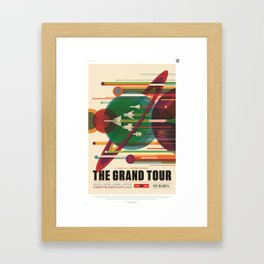 The Grand Tour : Vintage Space Poster Framed Art Print