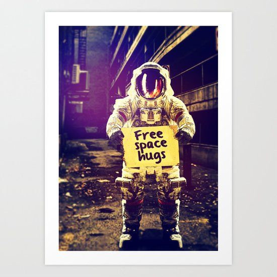 Space hugs Art Print