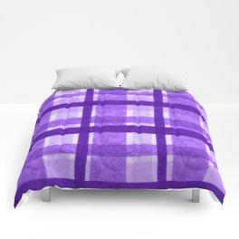Tissue Paper Plaid - Purple Comforters