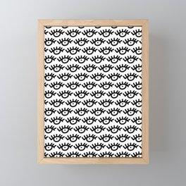 Eye Pattern Framed Mini Art Print