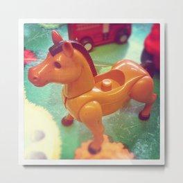 Vintage Toy Horse Metal Print