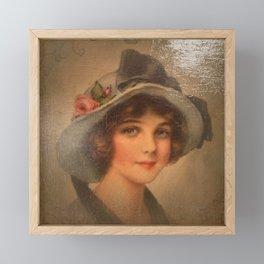 Vintage Lady 02 Framed Mini Art Print
