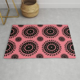 Pink and Black Repeat Rug