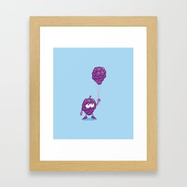 Grapes With Balloons Framed Art Print