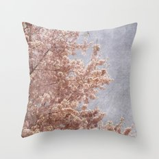 Beautiful Day - (pink cherry blossoms) Throw Pillow