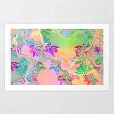 Florale fantasy Art Print