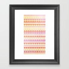 Summer Aztec Pattern Framed Art Print