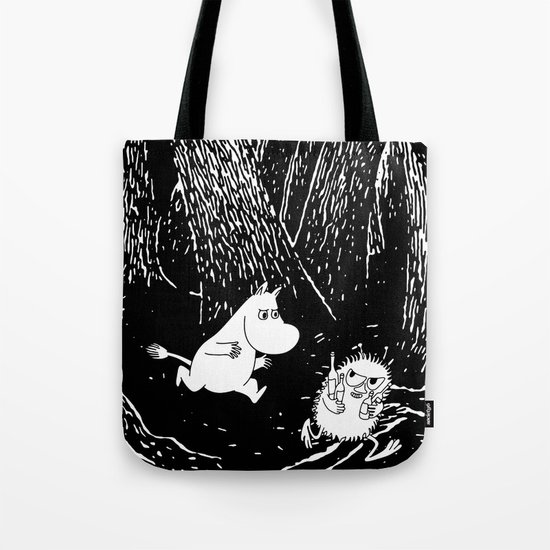 Moomins run for Stinky Tote Bag