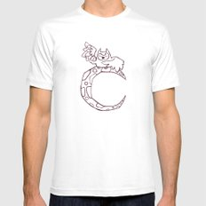 Owl sing for the moon MEDIUM White Mens Fitted Tee