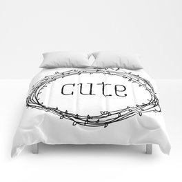 too cute Comforters