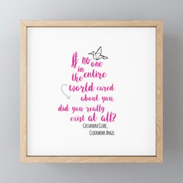 Do you exist at all? | Infernal Devices Framed Mini Art Print