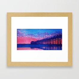 Fire Beyond the Pier Framed Art Print