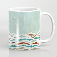 blush Mugs featuring Sea Recollection by Efi Tolia