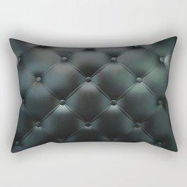 Black Tuck and Roll Texture Rectangular Pillow