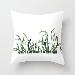 Spring from under the snow. Throw Pillow