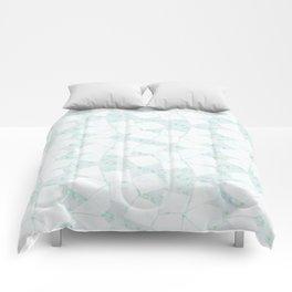 Ghost Town (Aqua Glow) Comforters