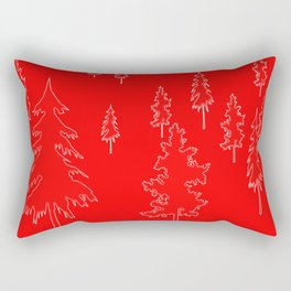Holiday Trees diffused Rectangular Pillow