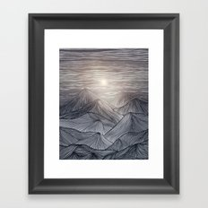 Lines in the mountains X Framed Art Print