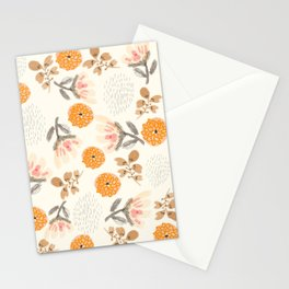 Modern Vintage Orange Blossoms Stationery Cards