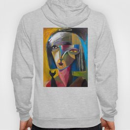 Woman with Black Cat Hoody