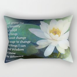 Serenity Prayer Lotus One Rectangular Pillow