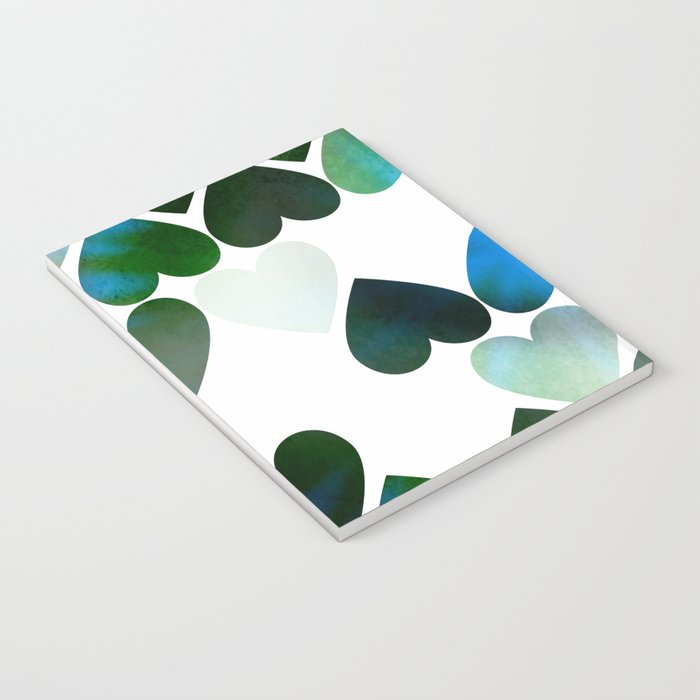 Mod Blue Hearts Notebook
