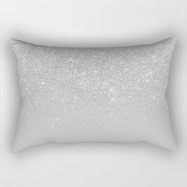 Trendy modern silver ombre grey color block Rectangular Pillow